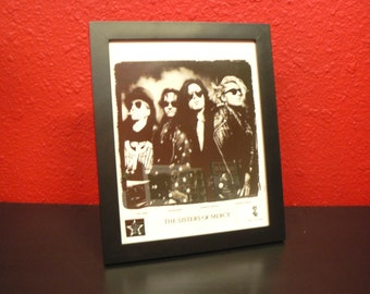 Vintage Early 90s (1990) Sisters of Mercy Framed Record Label Promo - Goth Music Collectibles