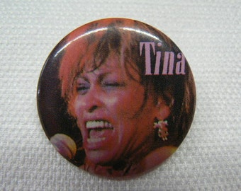 Vintage Early 1980s Tina Turner Button / Pin / Badge