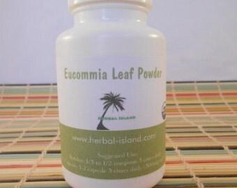 Eucommia Leaf Powder Capsules - 500mg Each
