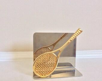 Nice Tennis Racquet Figural Letter Holder.