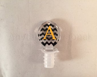 Personalized Gift, Monogrammed Gift, Acrylic Wine Stopper, Chevron Stopper, Monogrammed Wine, Wine Stopper, Wine Accessory, Hostess Gift