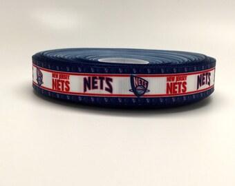 7/8 New Jersey Nets Grosgrain Ribbon