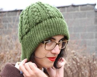 Little Green Cloche Beanie