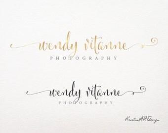 Hand-written logo design, Logo designPremade logo, Photography logo, Gold logo, Signature watermark, Signature, Watermark 160