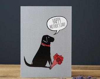 Labrador Mother's Day card