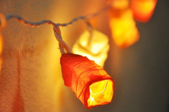 Paper Lantern String Lights Bedroom : Items similar to 20 Bulbs Paper Lantern String Lights for Party,Wedding,Bedroom,Garland ...