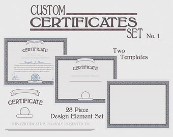 custom certificate template