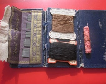 vintage sewingkit ,needles cotton thread