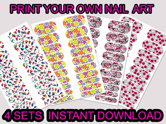 Vibrant image in printable nail decals