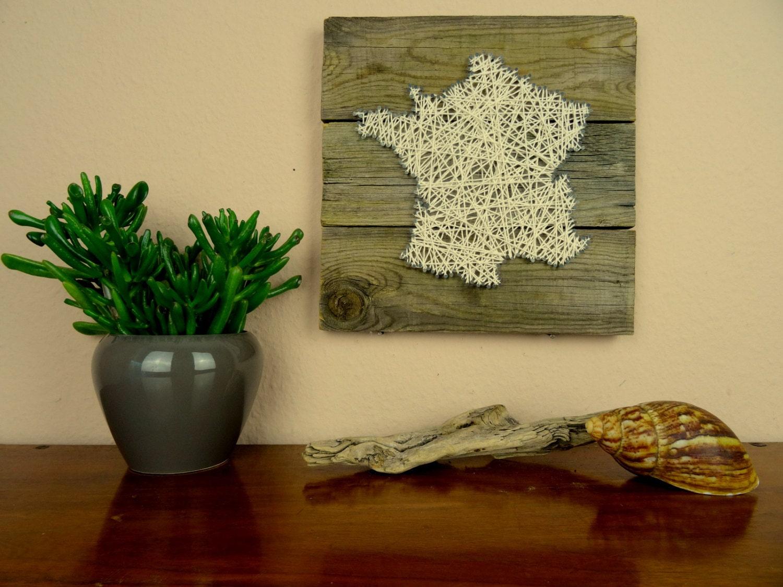 Landkarte frankreich wandbild aus holz geschenk f r sie for Frankreich dekoration