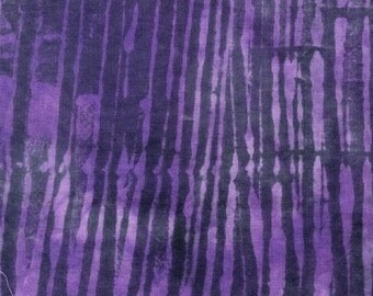 Sale, Mosaic Fabric,1/2 yd+ Marcia Derse Batik Fabric for Windham Fabrics, Purple Lines, Raisen Ripple