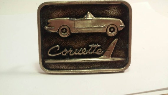Vintage brass Chevrolet belt buckle by redrummagesales on