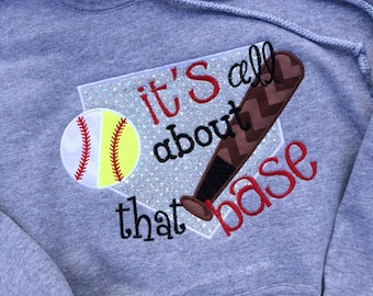 ADULT Its All About that Base applique short sleeve or long sleeve t-shirt