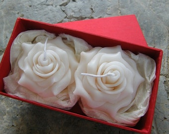 10x Rose floating candles 6cm size