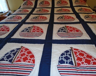 Sailboat Full Size Quilt