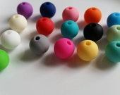 Lots of 100 for 10mm Silicone Beads Necklace Supply wholesale bulk 10mm bpa lead free food grade teething nursing close out sale!!!
