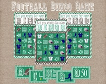 Football Bingo Game. 12 Game Cards, Calling Cards, & Call Sheets. Perfect for Football Birthday Party or for The Big Game! Instant Download.