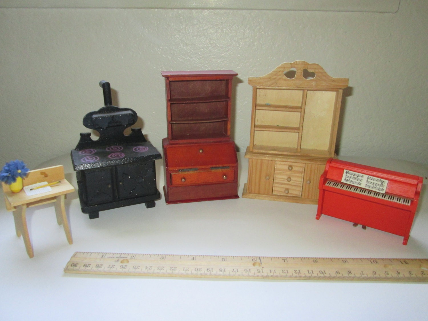 vintage wooden dollhouse furniture oddball by