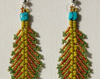 Autumn Earrings w/turquoise