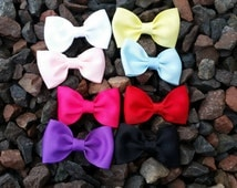 Set Of 8 Bow Tie Hair Bows/ Different Color Small Hair Bows/ Set Of 8 Small Bows/ Set Of Small Hair Bows