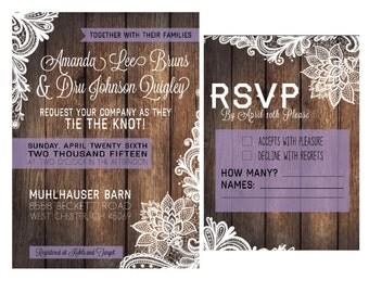 Country Theme Wedding Invite (PDF)