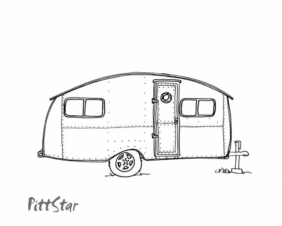 instant download 1947 curtis vintage travel trailer by