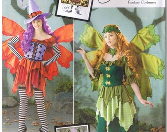 Fairy Witch Corset Hat Wings Amy Brown Costume Sewing Pattern Size 14 16 18 20 22