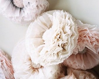 Blush paper flower, giant hand-dyed flower in shades of dove grey, blush, ivory, champagne, taupe Wedding Decoration paper flower backdrop