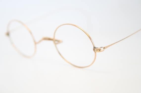 Antique Eyeglasses Vintage Gold Glasses Frames Oval Eyeglass