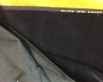 vintage Cantoni's Italian black velveteen 44 by 36 inches