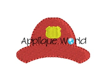 Mini Fireman Hat Embroidery