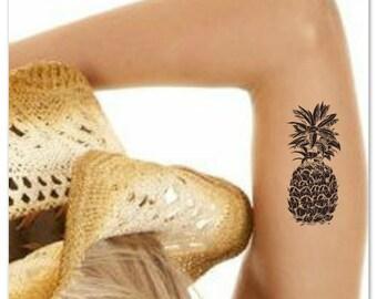 Pineapple Temporary Tattoo Fake Tattoo Thin Durable Waterproof