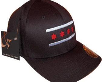 Black Chicago Flag Hat