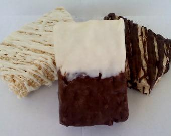 Chocolate Covered Homemade Rice Crispy Treats