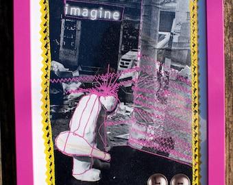 Imagine - print in frame