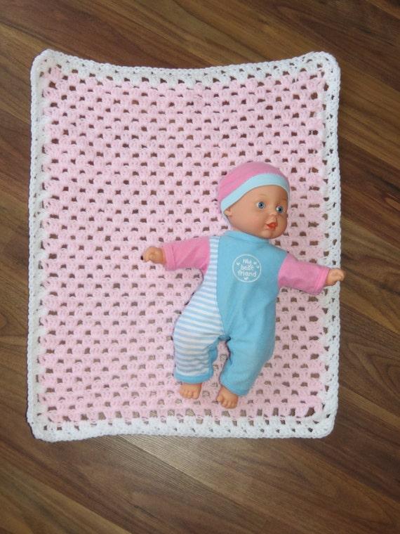 Crochet Pattern For Dolls Pram : Items similar to Handmade Crochet Baby Doll Pram Blanket ...