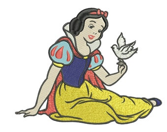 INSTANT DOWNLOAD Machine Embroidery Designs. Snow White. Snow White and the Seven Dwarfs.