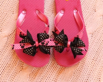Minnie Mouse Embellished Flip Flops