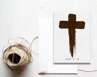 Painted Cross John 3:16 -  5x7 printable