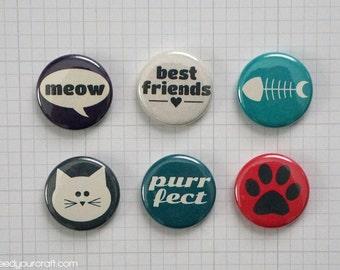 Cat's Life Mini Flair Badges