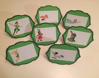 Peter Pan birthday decorations, Peter Pan food tents, food placecards!!