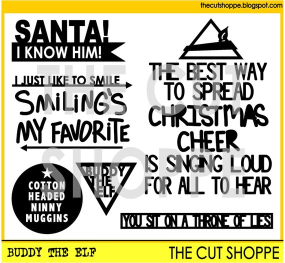 The Buddy the Elf cut file includes 6 Elf themed icons, that can be used on your scrapbooking and papercrafting projects.