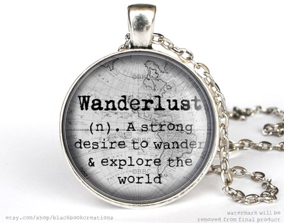 define handmade wanderlust definition necklace handmade by blackbookcreations 6721