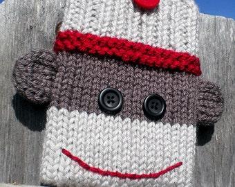 Sock Monkey Device Cozy Knitting Pattern