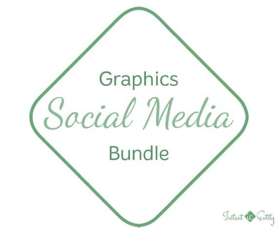 Custom Matching Social Media Graphics Bundle | Facebook, Twitter, Instagram, Google+, Pinterest | Cover, tabs, profile, avatar, timeline