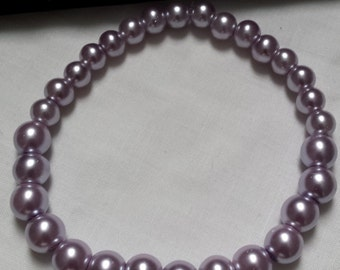 Handmade Light Purple Pearl Bracelet
