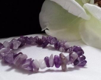 Handmade Purple Stretch Bracelet