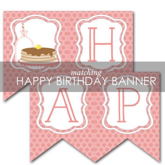 Pancakes And Pajamas BANNER Pancake Birthday Party Matching