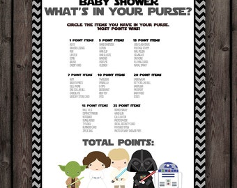 star wars baby shower purse game starwars baby shower whats in your