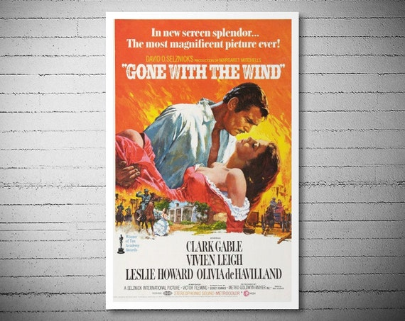 Gone with the Wind Movie Poster Poster Paper Sticker by ...